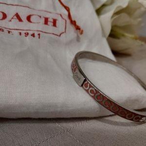 Pink Coach Signature 'C' Enamel Bracelet